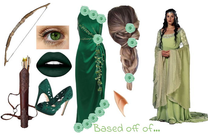 green elf outfit based off of the lord of the rings