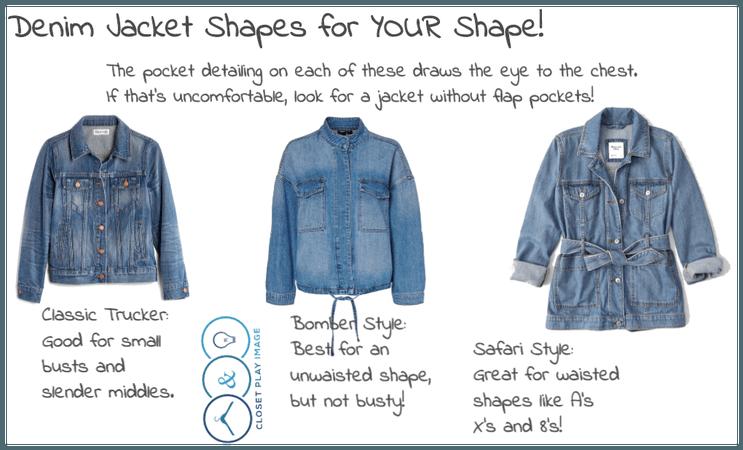 Denim Jacket Shapes for YOUR Shape!