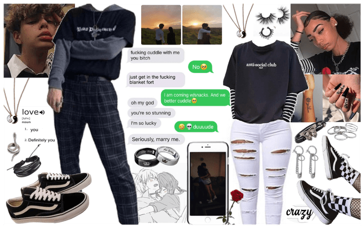 Grunge swirl couples outfit🤟🏼☣️👽