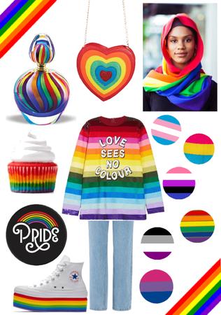 LGBTQ+ Rainbow Hijabi Outfit