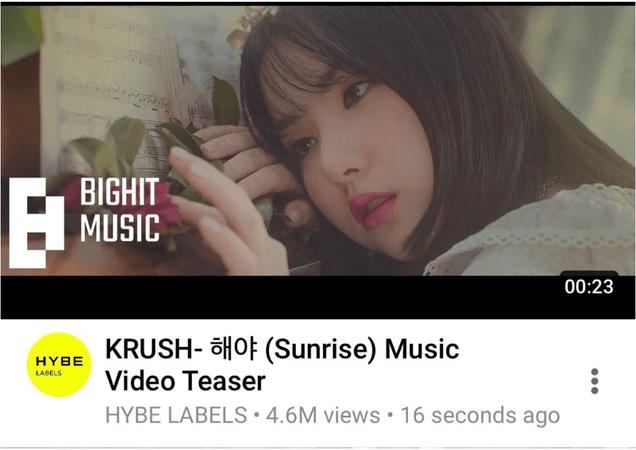 KRUSH Sunrise Music Video Teaser