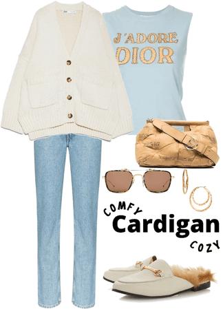 comfy cardigan cozy