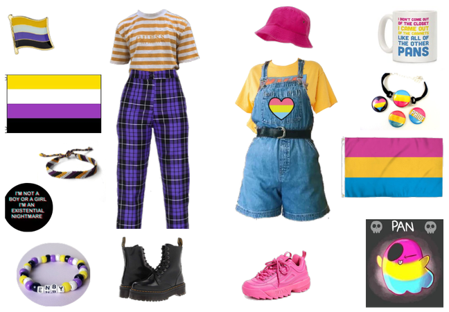 nonbinary & pansexual pride