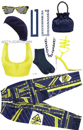 Yellow Lime & Navy