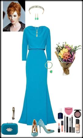 blue spring dress (Tara)