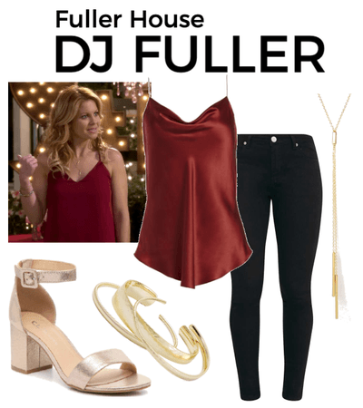 DJ Fuller Outfit Collage Season 1 Episode 7