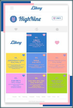 HighNine (하이 나인) 'LIKEY' Tracklist