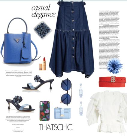 Casual elegance in blue