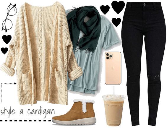 style a cardigan