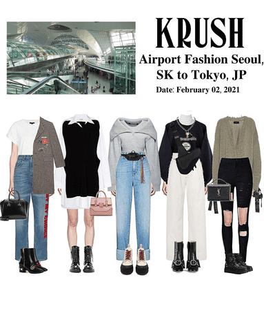KRUSH Airport Fashion: Seoul, SK to Tokyo, JP