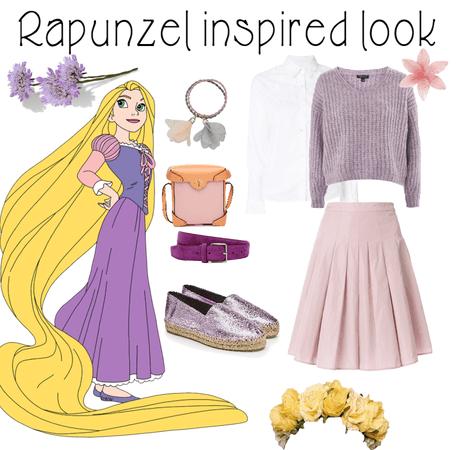 Rapunzel inspired look