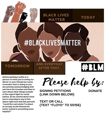 Please help in anyway possible! Thank you! I have as well done all! #blacklivesmatter I stand with you!