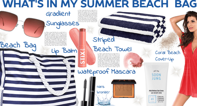 What's In My summer beach bag <3