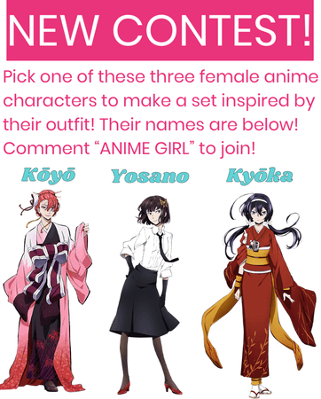 """NEW CONTEST!!! Comment """"ANIME GIRL"""" to join!!!🥰"""