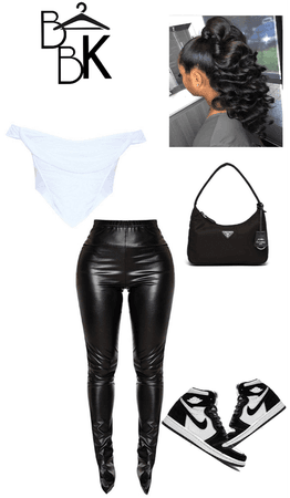 black and white casual glam
