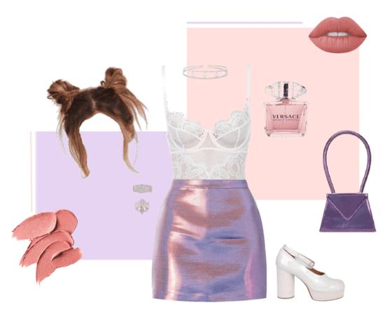 Peach Purple Metallic