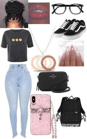School outfit  w/ Kayla
