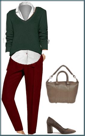 pantalon burdeos