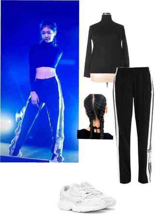 BLACKPINK #JENNIE at the Adidas Winter Night Show