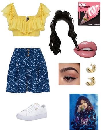 Selena Gomez -Ice Cream inspired outfit