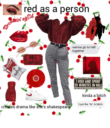 red as a person