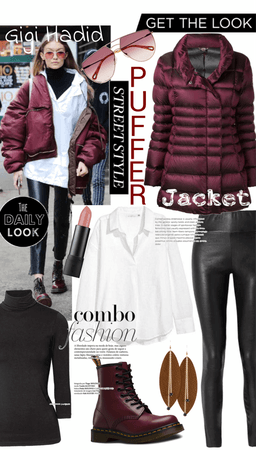 Get the Look - Gigi Hadid in a Puffer Jacket