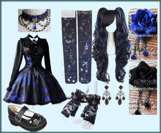 Black & Blue Gothic Lolita