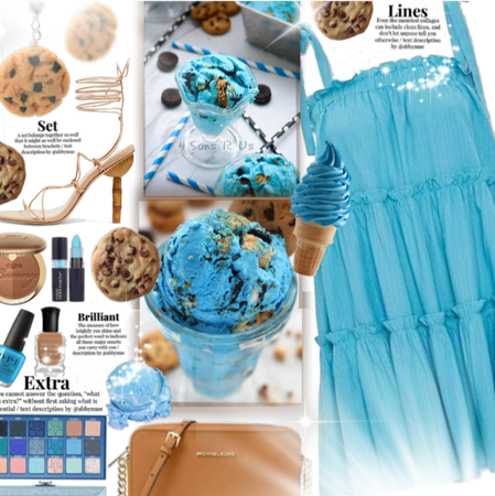 National Ice cream day| cookie monster inspired