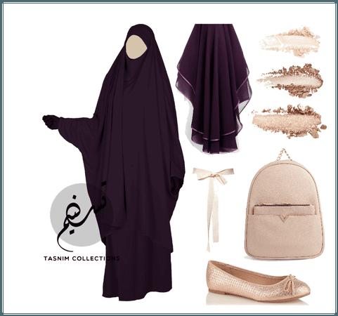 plum jilbab