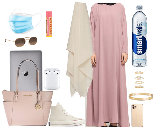 modest hijabi onw to uni in spring