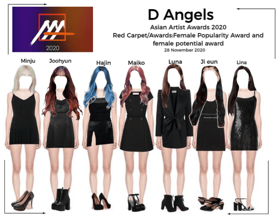 D Angels AAA 2020 Red carpet and Awards