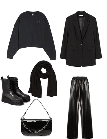 black minimal winter