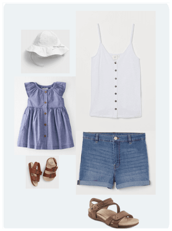 White and Jeans for Summer - Mommy and Me