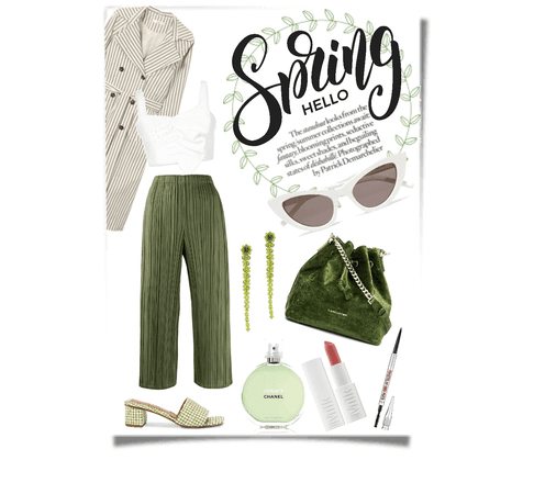 Day look#26 - white/green