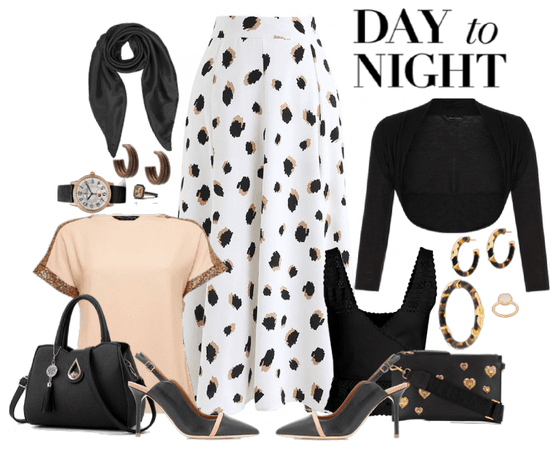 Day to Night Animal Print Skirt