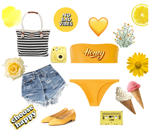 sunny and yellow