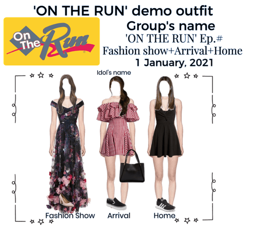 'ON THE RUN' demo outfit