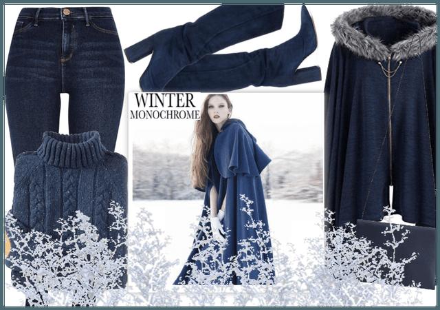 Winter Monochrome: Feeling Blue