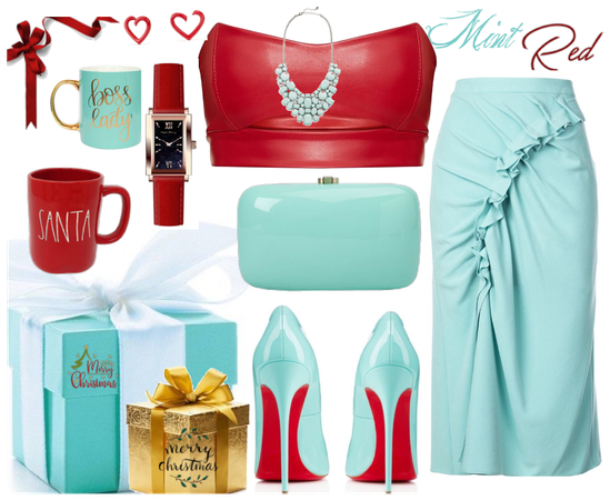 red and mint gift