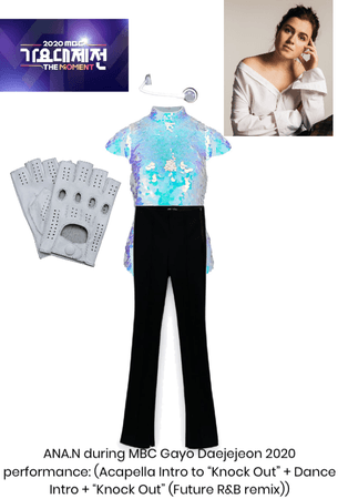 ANA.N during MBC Gayo Daejejeon 2020 outfit