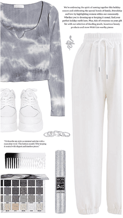 outfit 33// gray tie-dye