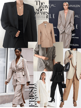 neutral oversized tailoring