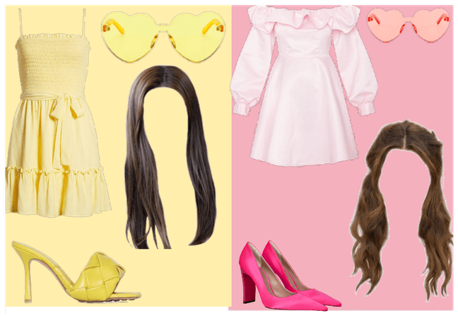 Yellow and Pink