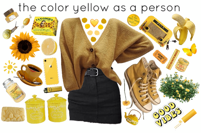 the color yellow as a person