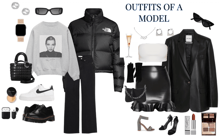 outfits of a model