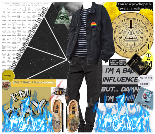 Bill Cipher Inspired Outfit