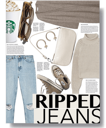 ripped jeans trend 🤍