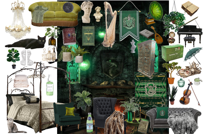 Slytherin Common Room and Dorms