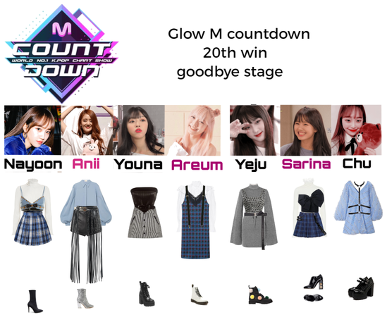 Glow m countdown 20th win goodbye stage