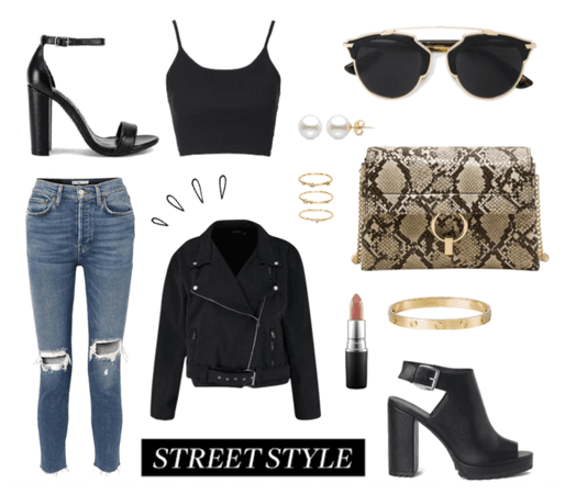 Casual Black Street Style